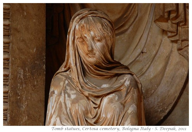 Tomb statues, certosa cemetry Bologna Italy - images by S. Deepak