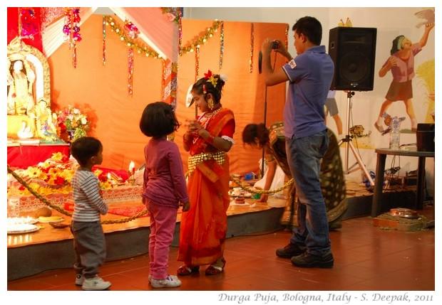 Children at Durga Puja, Bologna - S. Deepak, 2011