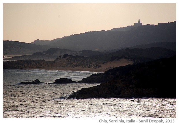 lighthouse, Chia, Sardegna, Italy - images by Sunil Deepak, 2014