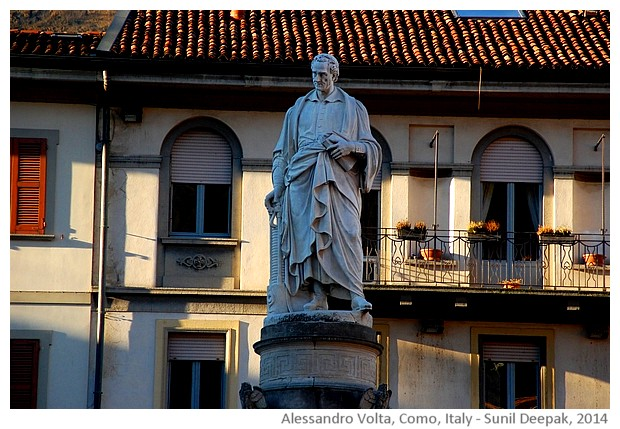 Alessandro Volta, Como, Italy - images by Sunil Deepak, 2014