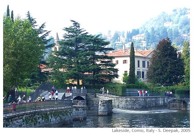 Como lakeside, Italy - images by Sunil Deepak, 2005