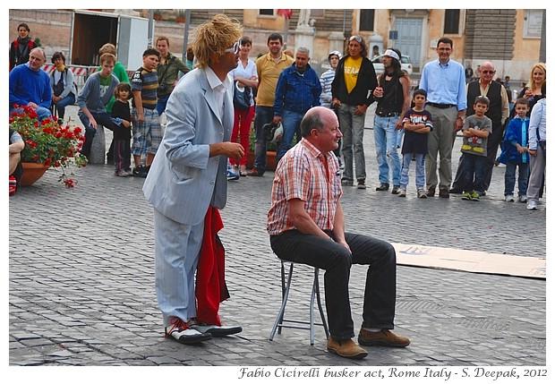 Fabio Cicirelli, busker Rome Italy - S. Deepak, 2012
