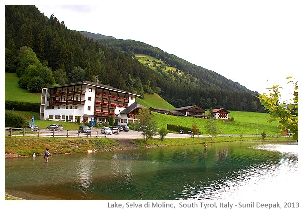 Selva di Molino lake, Alto Adige, Italy - images by Sunil Deepak, 2013