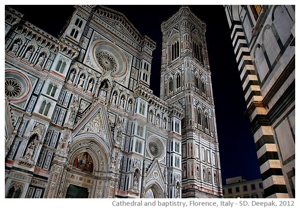 Cathedral and baptistry, Florence, Italy - S. Deepak, 2012