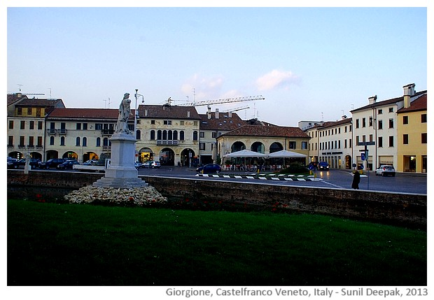 Statua Giorgione, Castelfranco Veneto (TV), Italy - images by Sunil Deepak, 2013