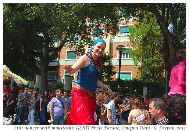 Girl with moustache, GLBTI Pride Bologna - S. Deepak, 2012