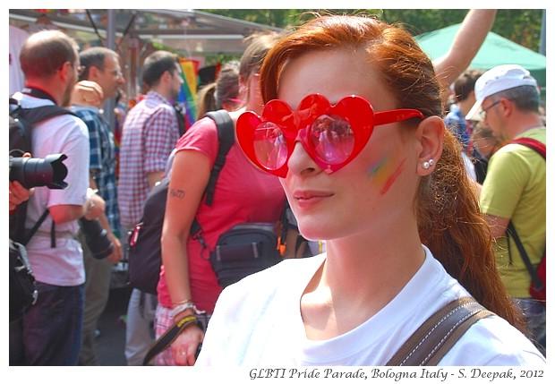 Pink hearts eyeglasses, GLBT Pride Bologna - S. Deepak, 2012