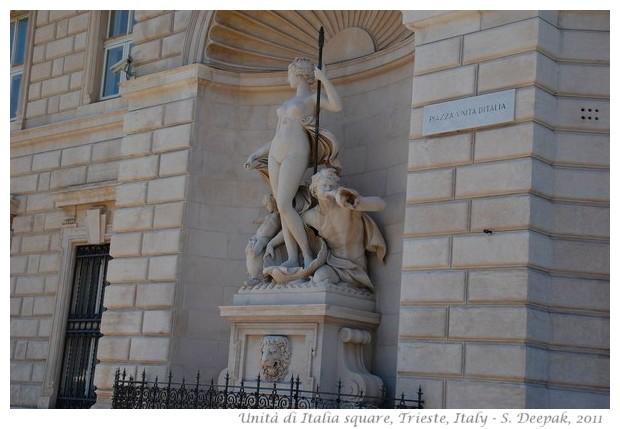 Greek gods' statues, Trieste, Italy - S. Deepak, 2011