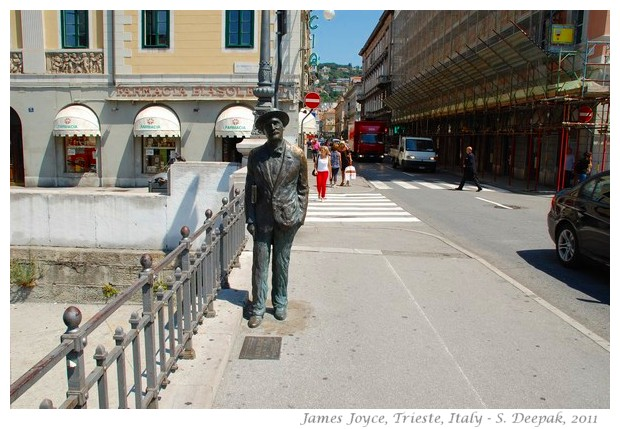 Statue of James Joyce in Trieste - image by S. Deepak