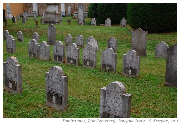 Tombstones at Jewish cemetery, Bologna, Italy - S. Deepak, 2011