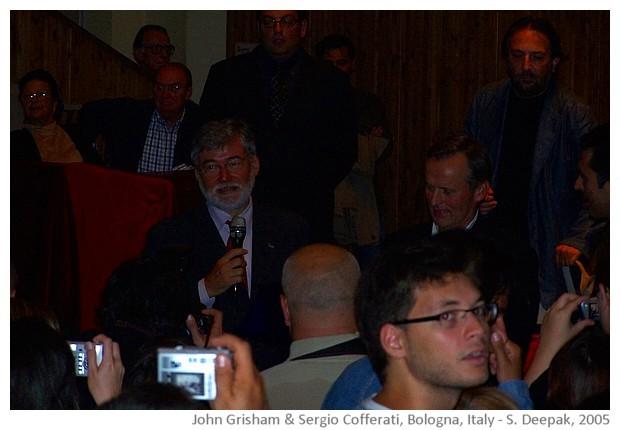 John Grisham, Bologna, Italy - images by Sunil Deepak, 2005