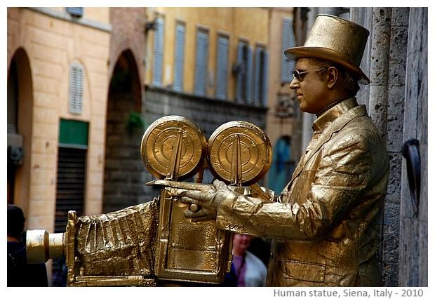 People dressed as statues, Siena, Italy - S. Deepak, 2010
