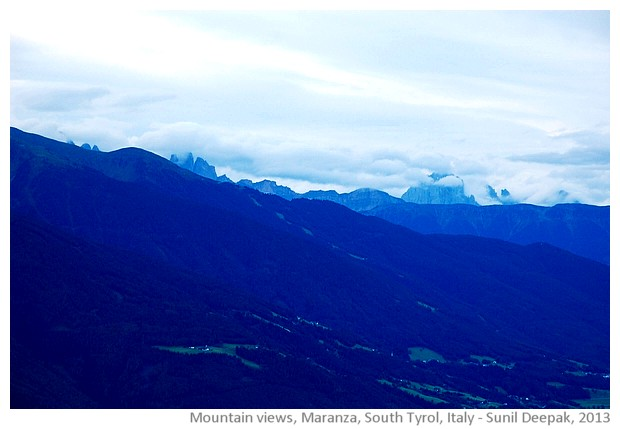 Mountain views, Maranza, South Tyrol, Alto Adige, Italy - images by Sunil Deepak, 2013