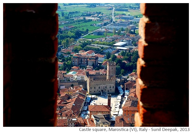 Castle square, Marostica (Vicenza), Italy - images by Sunil Deepak, 2013