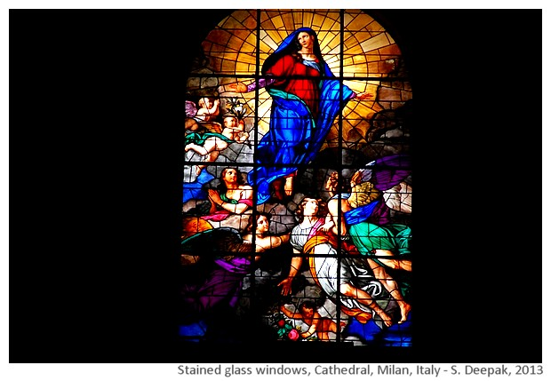 Stained glass, Milan Cathedral, Italy - S. Deepak, 2013
