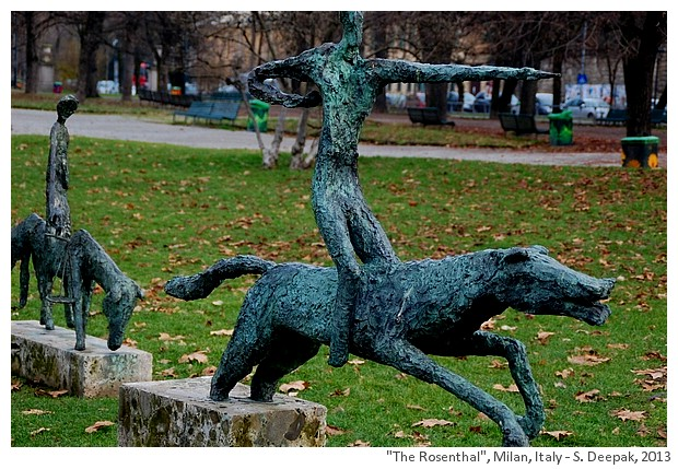 Horses by Harry Rosenthal, Piazza cavour, Milano, Italy - S. Deepak, 2013