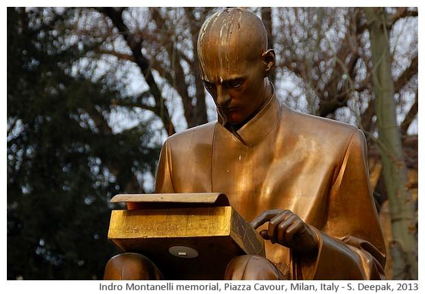 Indro Montanelli memorial, Milan, Italy - S. Deepak, 2013
