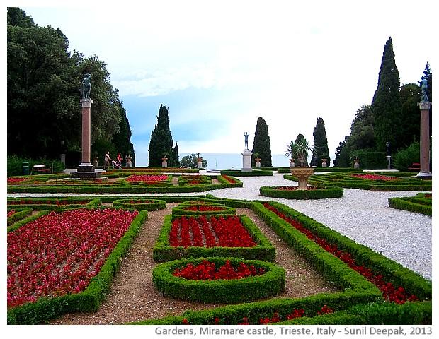 Miramare castle, Trieste, Italy - images by Sunil Deepak, 2013