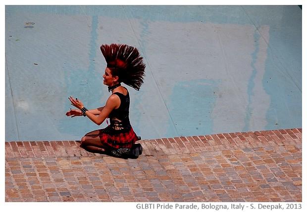 GLBTI Pride parade, Bologna, Italy - images by Sunil Deepak, 2013