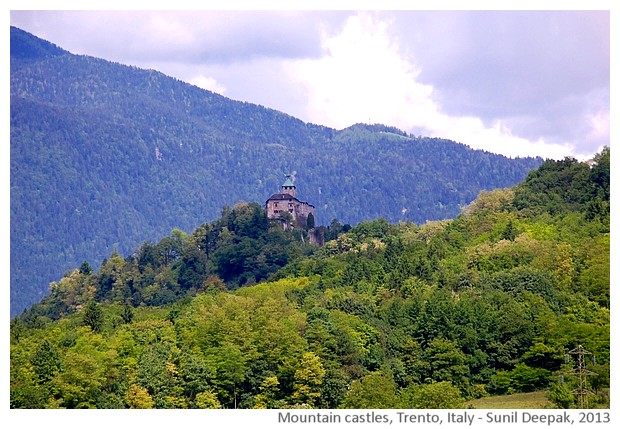 Mountain castles, Trento, Italy - images by Sunil Deepak, 2013