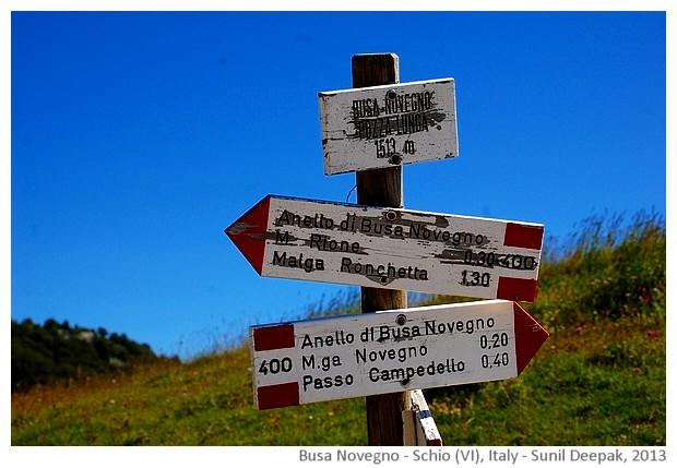 Busa Novegno mountain, Schio (VI), Italy - images by Sunil Deepak, 2013