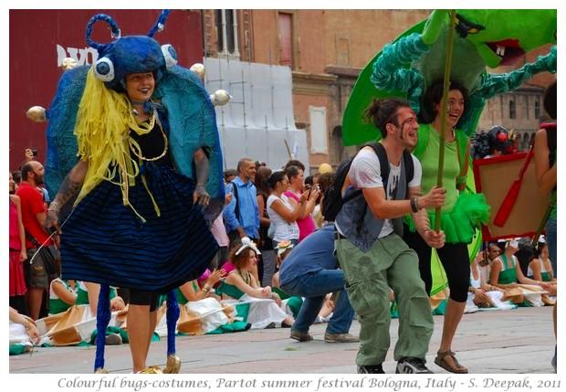 Colourful bugs-costumes at Partot parade, Bologna, Italy - S. Deepak, 2011