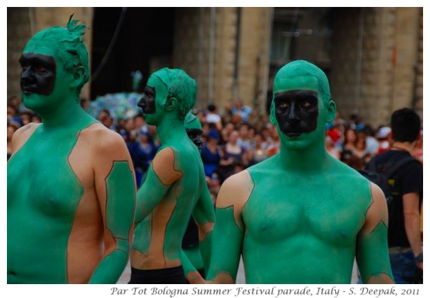 Green people, Par Tot summer festival Bologna, Italy June 2011 - images by S. Deepak