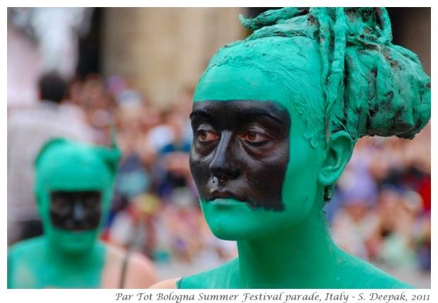 Green people, Par Tot summer festival Bologna, Italy June 2011 - images by S. Deepak