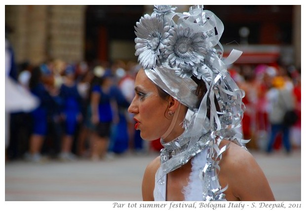 Silver queen from Partot parade, Bologna, Italy - images by S. Deepak