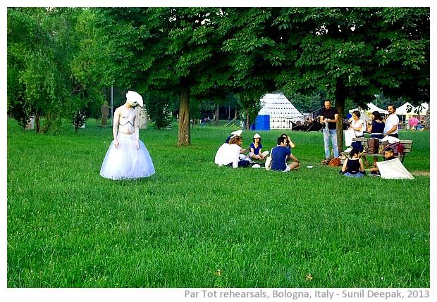 Par tot parade rehearsals, Bologna, Italy - images by Sunil Deepak, 2013