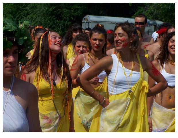Yellow colour in partot parade of Bologna