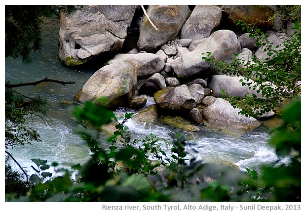 Rienza river, South Tyrol, Alto Adige, Italy - images by Sunil Deepak, 2013