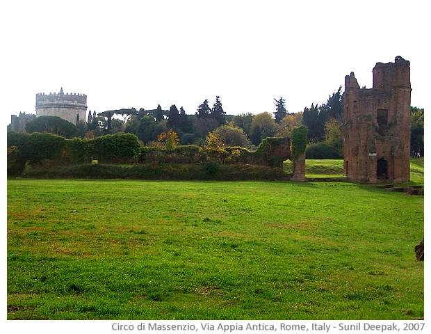 Messenzio's circus on Via Appia Antica, Rome, Italy - images by Sunil Deepak, 2007