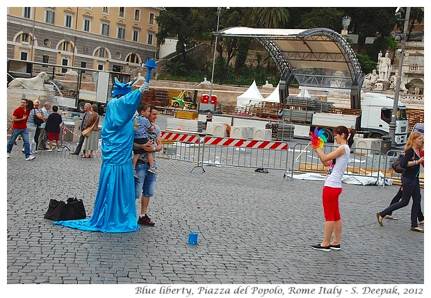 Blue statue of liberty, Rome Italy - S. Deepak, 2012
