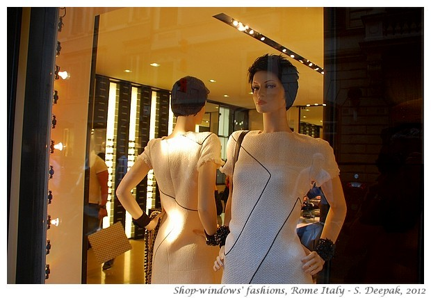 Shop-windows of fashion stores, Rome Italy - S. Deepak, 2012