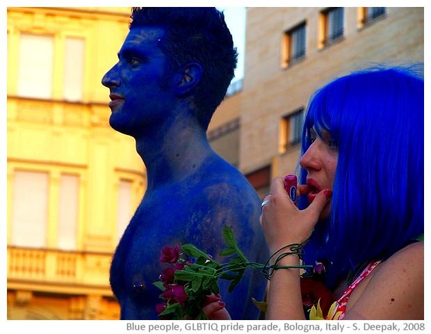 Blue people, GLBT pride parade, Bologna, Italy - S. Deepak, 2008