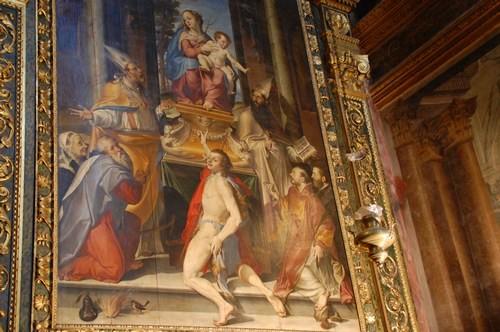 Painting by Bartolemeo Passerotti, San Giacomo church, Bologna, Italy