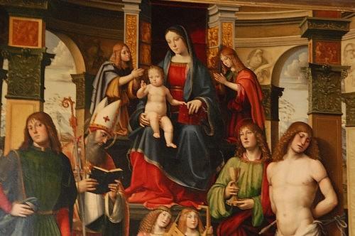 Alterpiece by Francia, Bentivoglio chapel, San Giacomo church, Bologna, Italy