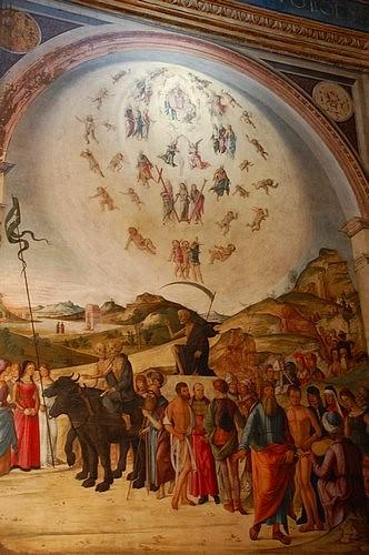 Lorenzo costa, Death, Bentivoglio chapel, San Giacomo church, Bologna, Italy