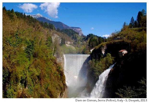 Dam on Cismon river, Serra, Feltre, Italy - S. Deepak, 2013