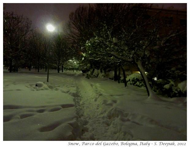 Snow in Bologna, Italy - S. Deepak, 2012