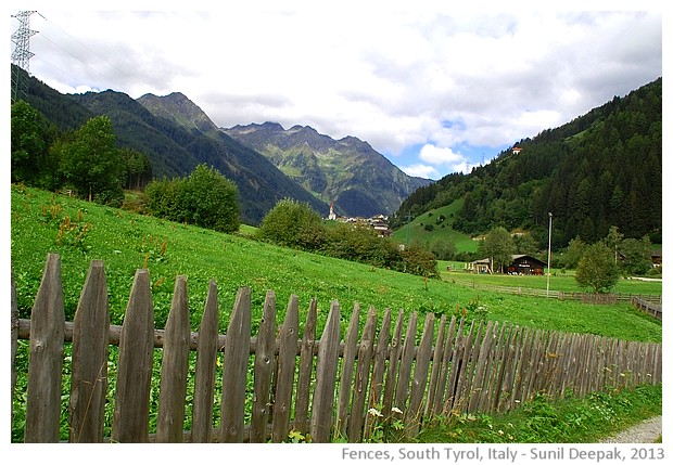 Wood fences, South Tyrol, Italy - images by Sunil Deepak, 2013