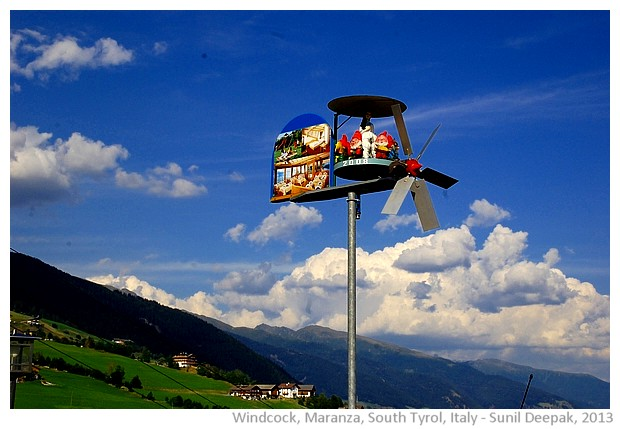 Weathervanes from South Tyrol, Italy - images by Sunil Deepak, 2013