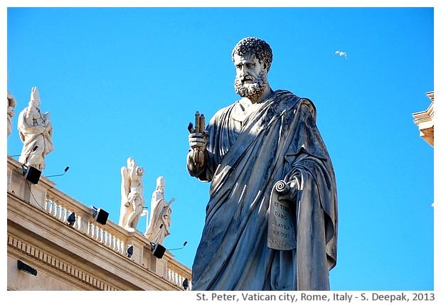 St Peter statue, Vatican city - S. Deepak, 2013