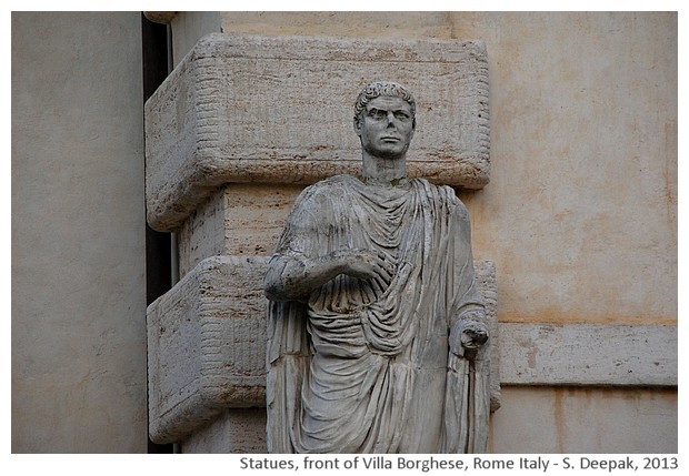 Statues, Villa Borghese, Rome, Italy - S. Deepak, 2013