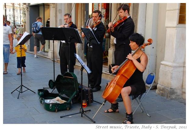 Street musicians, Trieste, Italy - S. Deepak, 2011