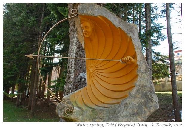 Spring water sculpture, Tolé Vergato, Italy - S. Deepak, 2012