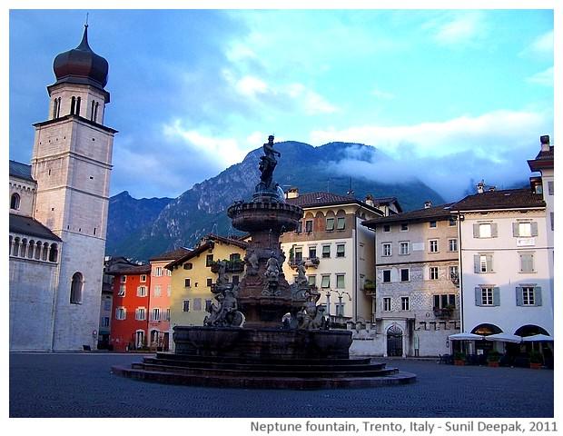 Neptune fountain, Trento, Italy - images by Sunil Deepak, 2011
