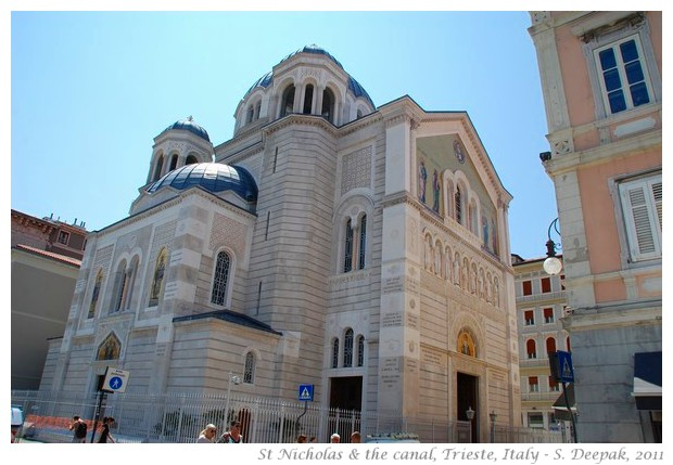 St Nicholas orthodox church & canal, Trieste, Italy - S. Deepak, 2011