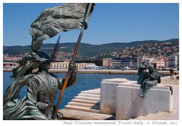 Mule Triestine monument, Trieste, Italy - images by S. Deepak